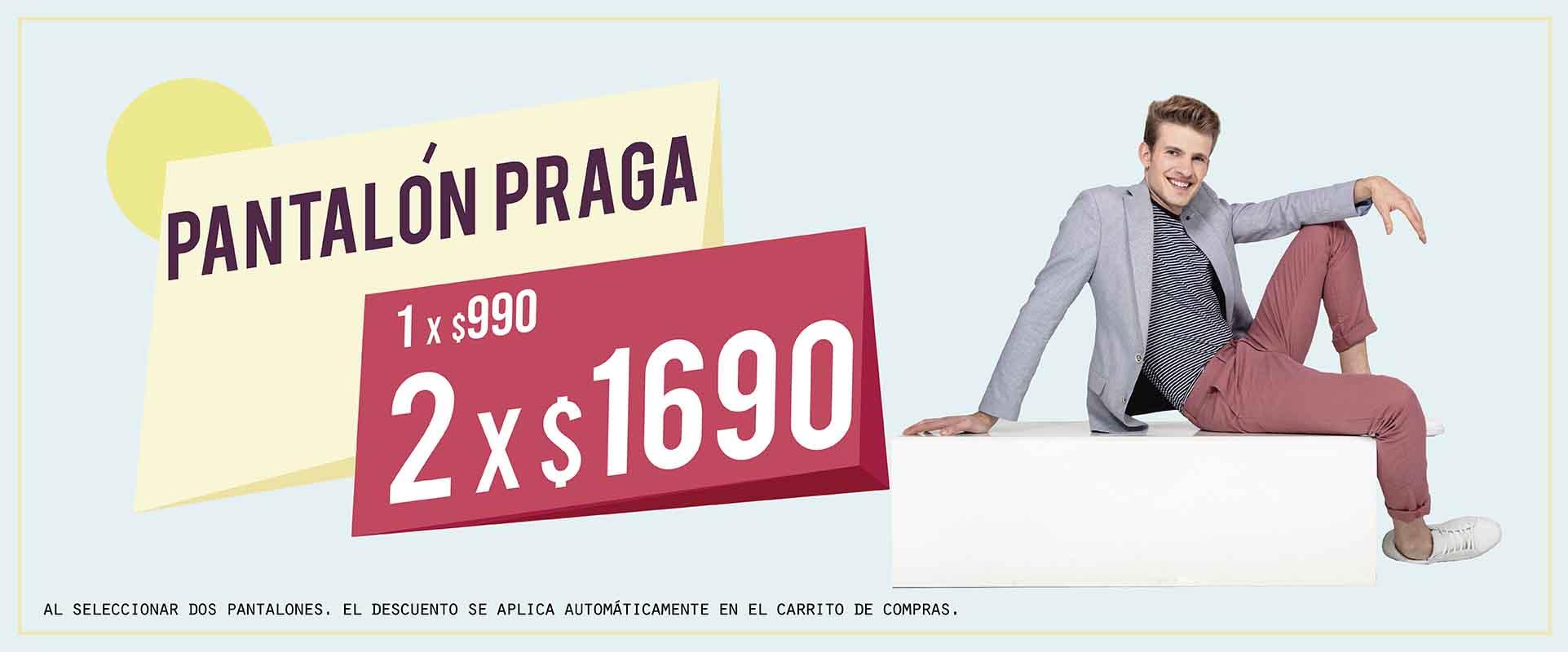 Pantalon Praga 2x